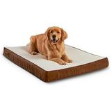 Happy Hounds Otis Orthopedic Pillow Dog Bed w/Removable Cover, Latte, Large