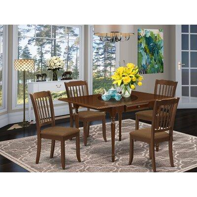 Ophelia Co Athol Drop Leaf Solid Wood Dining Set Pieces Included 5 Pieces 1 Table 4 Chairs Wood Upholstered Chairs Solid Wood In Mahogany Ibt Shop