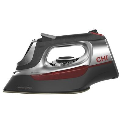 Hamilton Beach CHI 13102 Gray and Red Full-Featured Hospitality Iron with Retractable Cord - 120V, 1700W
