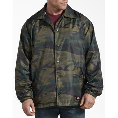 Dickies Men's Camo Coaches Jacket - Hunter Green Size M (76241)