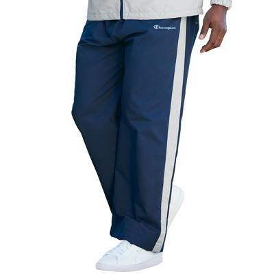 Men's Big & Tall Champion Track Pants in Navy Grey (4XL) Polyester