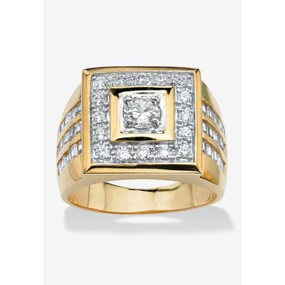 Men's Big & Tall PalmBeach Jewelry Square Ring in Gold (12)