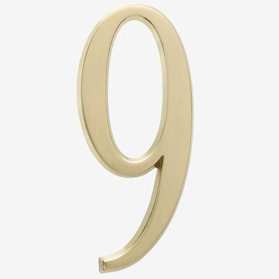 """Numbers, Size 4¾"""" in #9 Gold by BrylaneHome"""