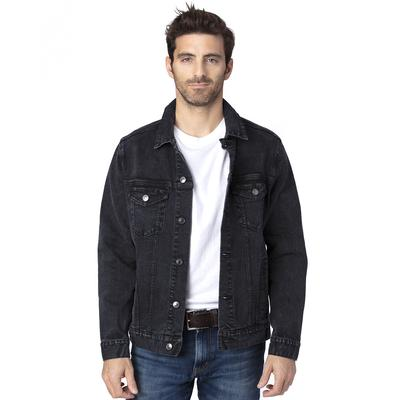 Threadfast Apparel 370J Denim Jacket in Black size Small