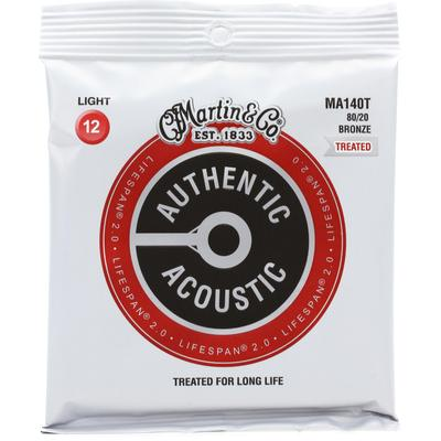 Martin Authentic Acoustic Lifespan 2.0 Treated Guitar Strings - 80/20 Bronze Light