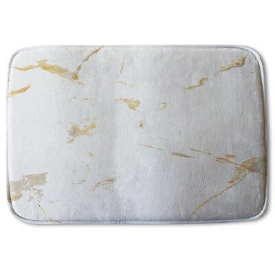 Peer Favorite Everly Quinn Sabra Marble Designer Rectangle Non Slip Abstract Bath Rug Polyester In Gray Silver Size 24 H X 17 W X 24 D Wayfair Ibt Shop