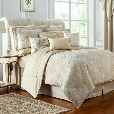 Annalise Comforter Set Gold, Queen, Gold