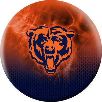 Chicago Bears NFL On Fire Undrilled Bowling Ball