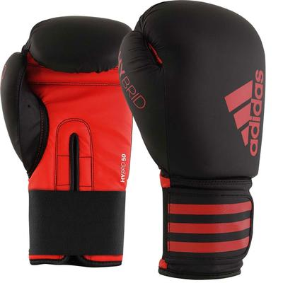 adidas Hybrid 50 Boxing Gloves Black/Red