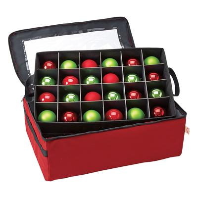 2-Tray Ornament Storage Bag in Red by BrylaneHome