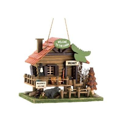Zingz & Thingz Woodland Cabin Bird House