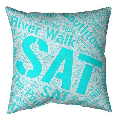 Artverse Texas Districts Word Art Leather Throw Pillow Cover Leather Suede In Cyan Size 14 X 14 Wayfair Cit210 Slpgz4g From Artverse Ibt Shop