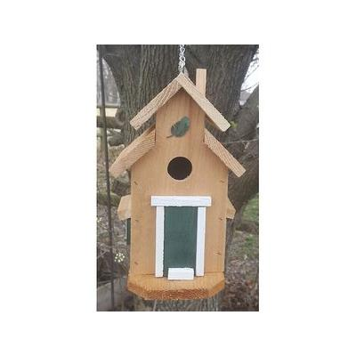 Bird Houses by Mark Cedar Cottage Bird House, Green