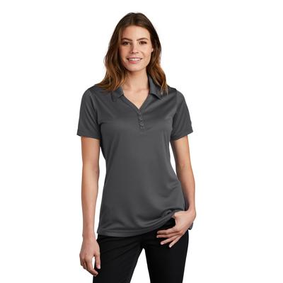 Sport-Tek LST680 Women's PosiCharge Micro-Mesh Polo Shirt in Iron Grey size XXL | Polyester