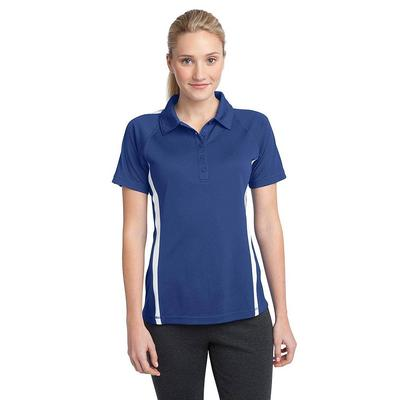 Sport-Tek LST685 Women's PosiCharge Micro-Mesh Colorblock Polo Shirt in True Royal/White size Large | Polyester