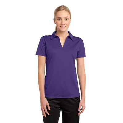 Sport-Tek LST690 Women's PosiCharge Active Textured Polo Shirt in Purple size XXL | Polyester