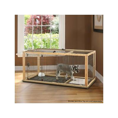 Richell Expandable Dog Crate, Medium; Your furbaby won't stay little for long, but she's not quite ready for a big-girl crate. The Richell Expandable Dog Crate grows with her to help her feel comfortable and secure! Adjusting at 11 different widths,...