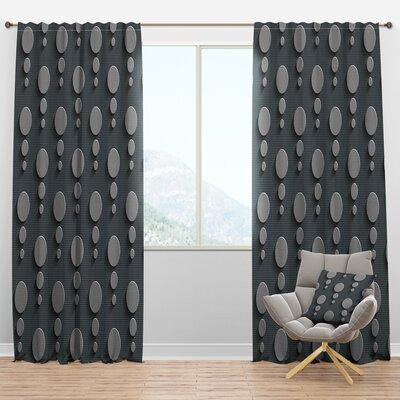 Design Art Foliage V Floral Semi Sheer Thermal Rod Pocket Single Curtain Panel Size Per Panel 52 W X 108 L Polyester Linen Wayfair In Yellow Gold Sportspyder