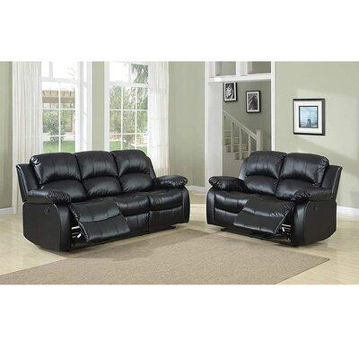 Red Barrel Studio Dilshad 2 Piece Faux Leather Reclining Configurable Living Room Set Fabric Faux Leather In Black Faux Leather Wayfair Ibt Shop