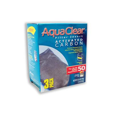 AquaClear Activated Carbon Filter Inserts, 50, 50 GAL
