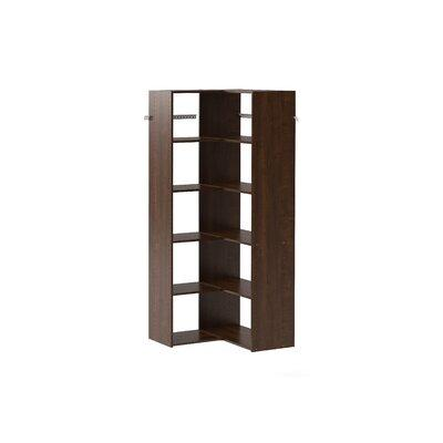 Shop Now For The Dotted Line Kim 30 W Closet System Corner Tower Kit Finish Brown Manufactured Wood In Brown Gray White Size 14 L X 30 W X 72 H Wayfair Ibt Shop