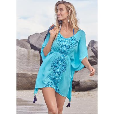 Tassel Detail Cover-Up Cover-ups - Blue/Multi