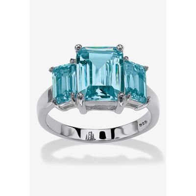 Women's Sterling Silver Simulated Birthstone Ring by PalmBeach Jewelry in December (Size 9)