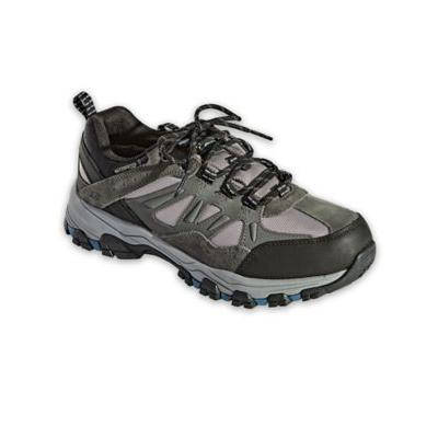 Men's Skechers Selmen Enago Leather Shoes, Grey 14 Double Wide