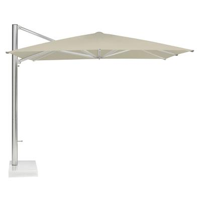 emu 981-20 10' Shade Cantilever Square Umbrella with Base- Aluminum, Khaki/Granite on Sale