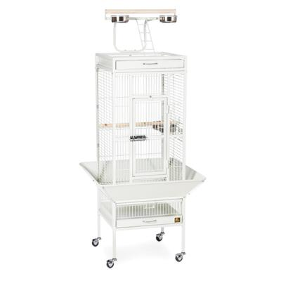Prevue Pet Products Signature Select Series Wrought Iron Bird Cage in Chalk White, Small