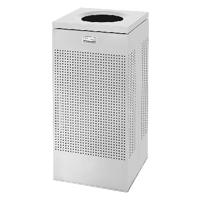 Rubbermaid FGSC14EPLSM 16 gal Indoor Decorative Trash Can - Metal, Silver on Sale