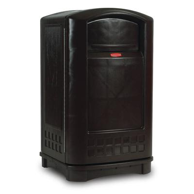 Rubbermaid FG396400BLA 50 gal Outdoor Decorative Trash Can - Plastic, Black on Sale