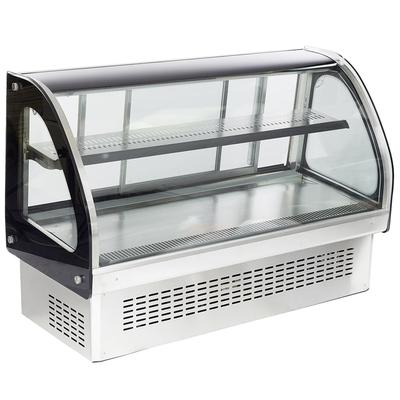 Vollrath 40843 48 Full Service Refrigerated Display Case w/ Curved Glass - (2) Levels, 120v on Sale