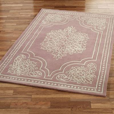 "Keepsake Lace Rectangle Rug Dusty Mauve, 2'6"" x 4'2"", Dusty Mauve"