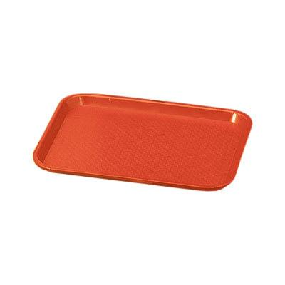 Vollrath 86124 Plastic Fast Food Tray - 18L x 14W, Orange on Sale