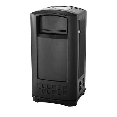 Rubbermaid FG9P9100 BLA Trash Can Top Cigarette Receptacle - Outdoor Rated on Sale