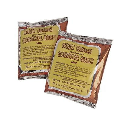 Gold Medal 2094 Concentrated Caramel Popcorn Treat Mix w/ (12) 22 oz Pouches on Sale