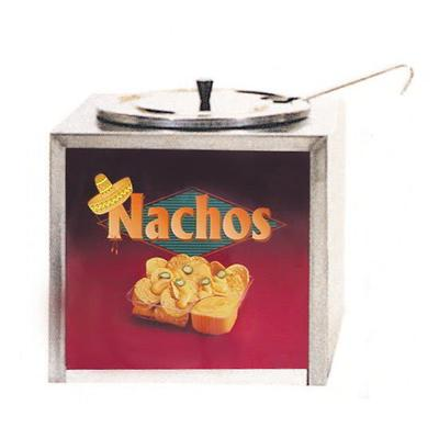 Gold Medal 2191 Cabinet Design Dipper Style Nacho Cheese Warmer w/ Lighted Sign, 120v on Sale