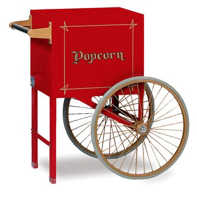 Gold Medal 2659CW Popcorn Cart w/ 2 Spoke Wheels, White on Sale