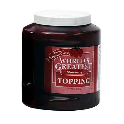 Gold Medal 5140 Ice Cream Topping w/ (3) 66 oz Jars, Strawberry on Sale
