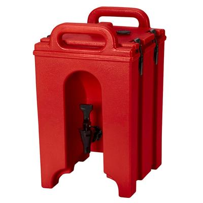 Cambro 100LCD158 1.5 gal Camtainer Insulated Beverage Dispenser, Hot Red on Sale