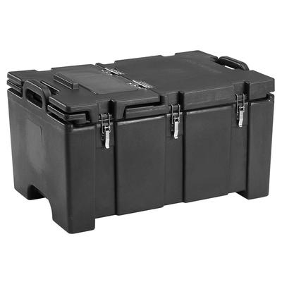 Cambro 100MPCHL110 Camcarriers Insulated Food Carrier - 40 qt w/ (1) Pan Capacity, Hinged Lid, Black on Sale