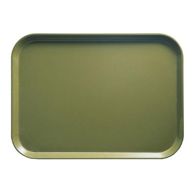 Cambro 1014428 Fiberglass Camtray Cafeteria Tray - 13.75L x 10.6W, Olive Green on Sale