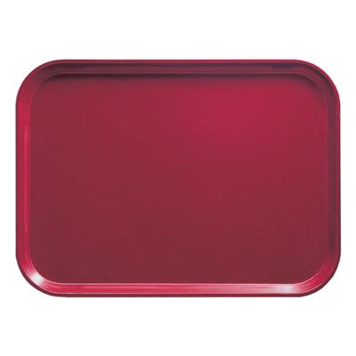 Cambro 1014505 Fiberglass Camtray Cafeteria Tray - 13.75L x 10.6W, Cherry Red on Sale
