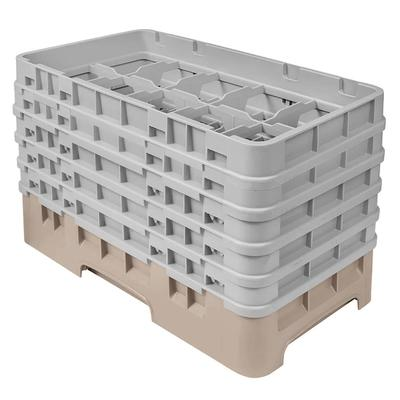 Cambro 10HS958184 Camrack Glass Rack - (5)Extenders, 10 Compartments, Beige on Sale