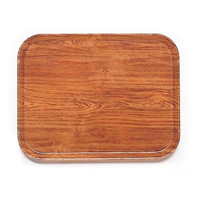 Cambro 1216/GRP III-309 Fiberglass Camtray Cafeteria Tray - 16.3L x 12W, Java Teak on Sale