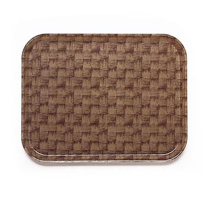 Cambro 1318301 Fiberglass Camtray Cafeteria Tray - 17.75L x 12.6W, Dark Basketweave on Sale