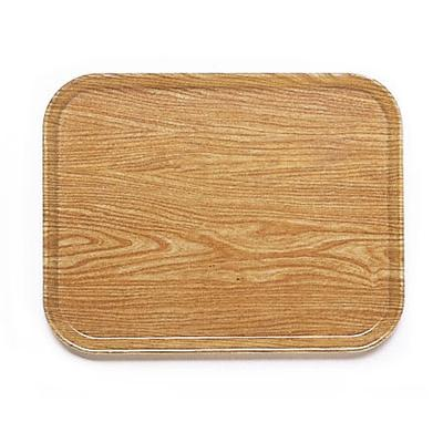 Cambro 1418307 Fiberglass Camtray Cafeteria Tray - 18L x 14W, Light Elm on Sale