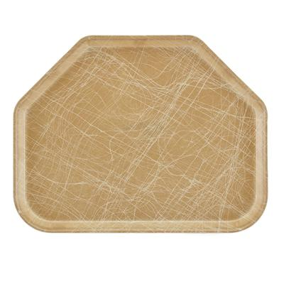 Cambro 1418TR214 Fiberglass Camtray Cafeteria Tray - 18L x 14W, Abstract Tan on Sale