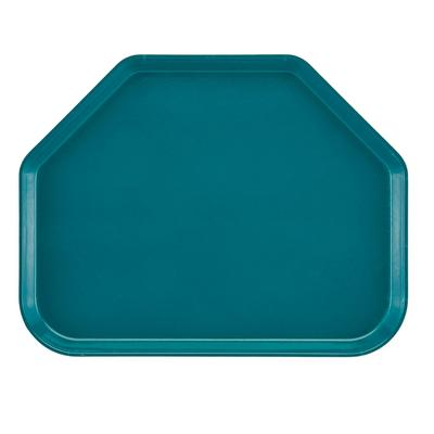 """Cambro 1418TR414 Fiberglass Camtray? Cafeteria Tray - 18""""L x 14""""W, Teal"""